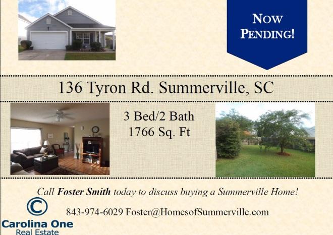 Pending Sale in Summerville, SC