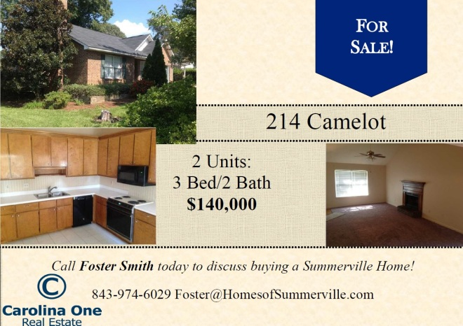 Home for Sale in Camelot Village in Goose Creek SC