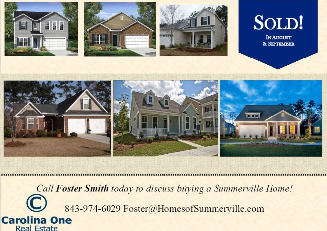 Foster Smith sells Summerville, SC Homes