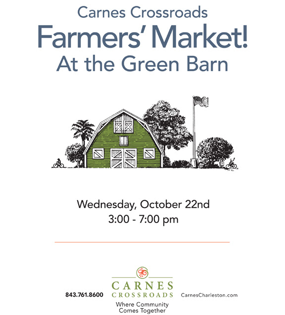 Carnes Crossroads in Summerville, SC is having a Farmers Market!