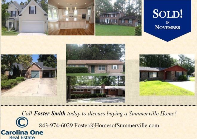 Homes Sold in Summerville SC by Foster Smith