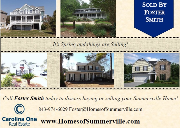 Summerville SC Homes Sold by Foster Smith