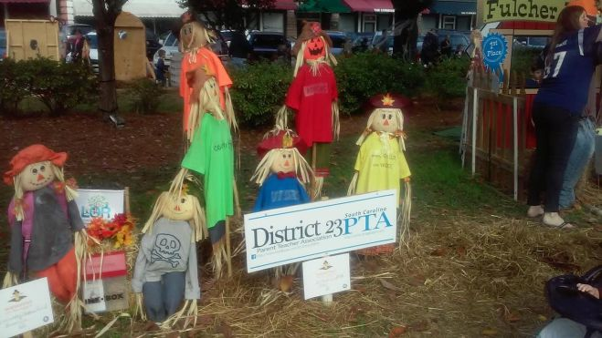 Scarecrows on the Square in Summerville SC