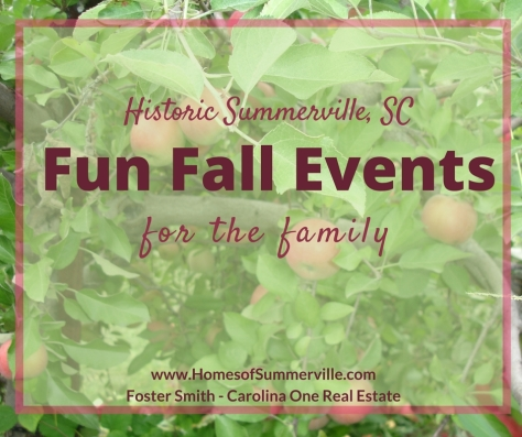Historic Summerville Fall Family Events