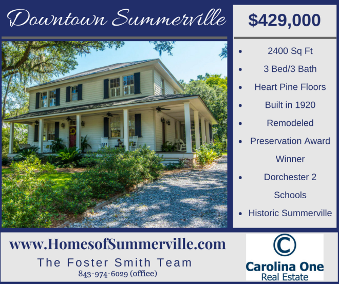 Beautifully Remodeled Historic Summerville Home for Sale