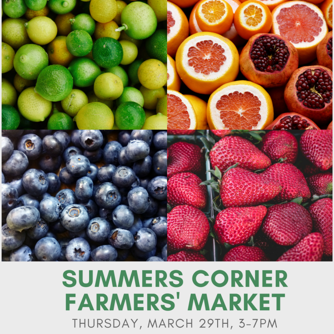 Summers Corner Farmers' Market Opens Thursday!