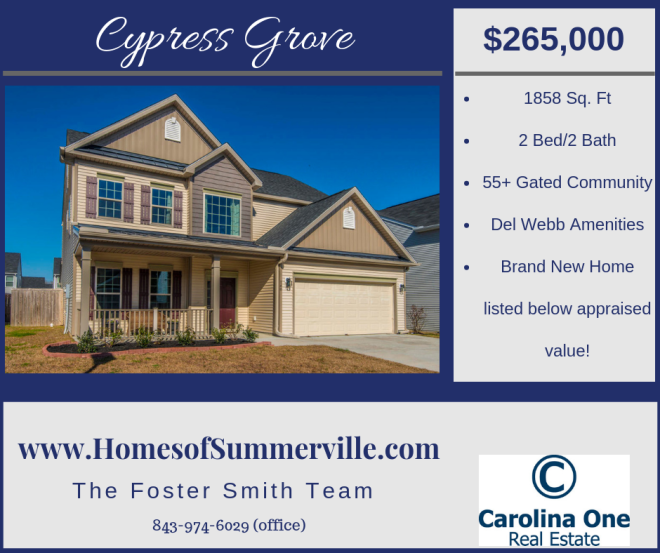 Homes for Sale in Cypress Grove in Moncks Corner, SC