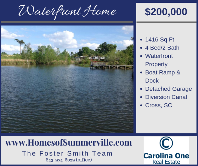 Waterfront Home for Sale in Cross, SC