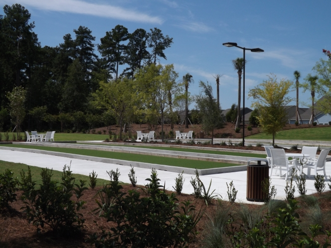 Bocce Ball Courts at Del Webb Nexton