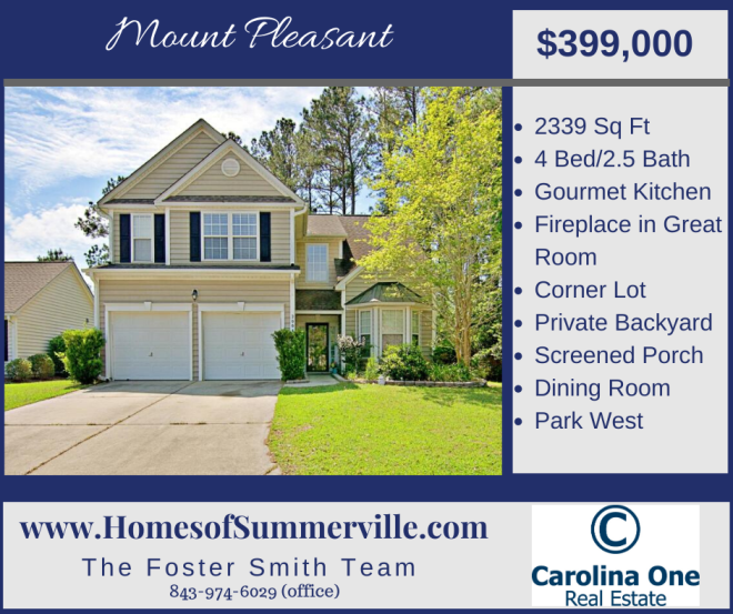 Home for Sale in Park West - Mount Pleasant, SC